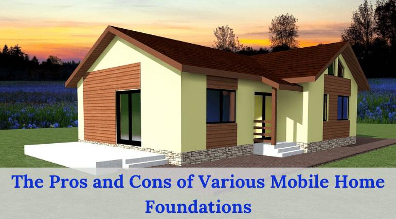 mobile home foundation